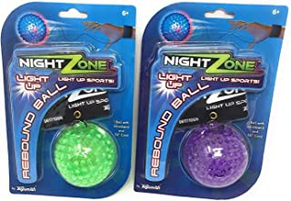 (2-Pack) NightZone Light up Sports Flash Back Rebound Ball (Colors Vary)