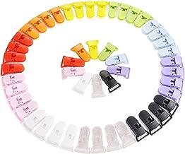 LIHAO Pinza Chupete Clips para Chupeteros para Niños - 50 Piezas,10 Colores