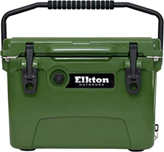 Elkton Outdoors Ice Chest. Heavy Duty, High Performance Roto-Molded Commercial Grade Insulated Cooler, 20-Quart