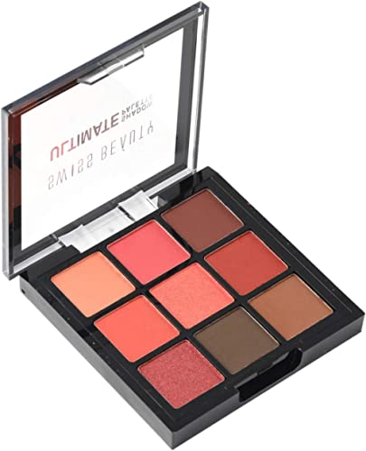 Swiss Beauty Ultimate 9 Color Eyeshadow Palette, Eye MakeUp, Multicolor-06, 9g