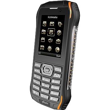 Plum Ram 7-4G Rugged Unlocked Cell Phone GSM - IP68 Certified Military Grade Water Shock Proof ATT Tmobile Cricket, Metro, Straight Talk, Consumer Cellular, Black Orange