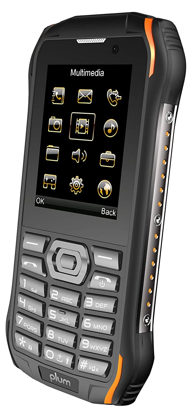 Plum Ram 7-3G Rugged Unlocked Cell Phone GSM - IP68 Certified Military Grade Water Shock Proof Dual Sim Global Ready