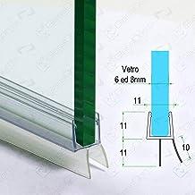 in plastica gommata Hnnhome per vetri curvi o dritti di spessore 4-6 mm Gocciolatoio per box doccia//vasca da bagno copre uno spazio vuoto di 5-10 mm