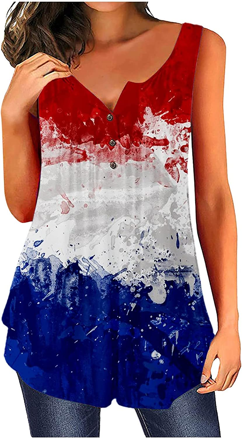 Women's Short Sleeve 4th of Surprise price July Flag T American S Shirts Casual New color