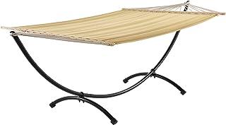 casa.pro Hamaca XXL con soporte (beige) (150 x 300 cm)