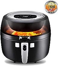 NutriChef Digital Air Fryer 6.8 Qt XXL - 1350 Watt Power Electric Oilless Kitchen Hot Air Frying Convection Multi Cooker, Non Stick Fry Basket - Digital Cooking Time Setting options, Black- PKAIRFR75