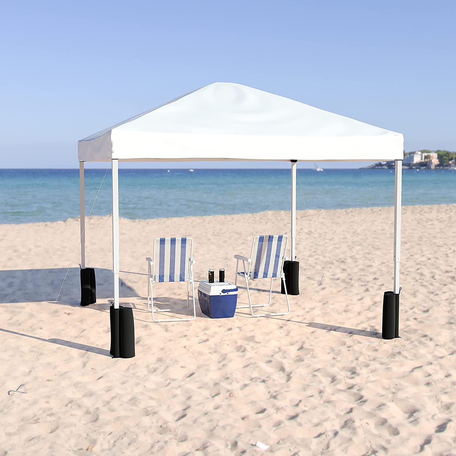 Flash Furniture Sale price 10'x10' White Pop Up Recommended Leg T Straight Canopy Event