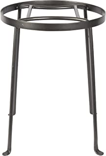 Achla Designs FB-31 Argyle II Wrought Iron Plant Stand, 14-inch H, Graphite
