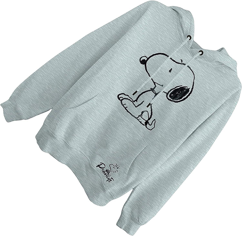 Peanuts Ladies Snoopy Fashion Hoodie - Ladies Classic Snoopy Fleece Sweatshirt Foil Sweatshirt