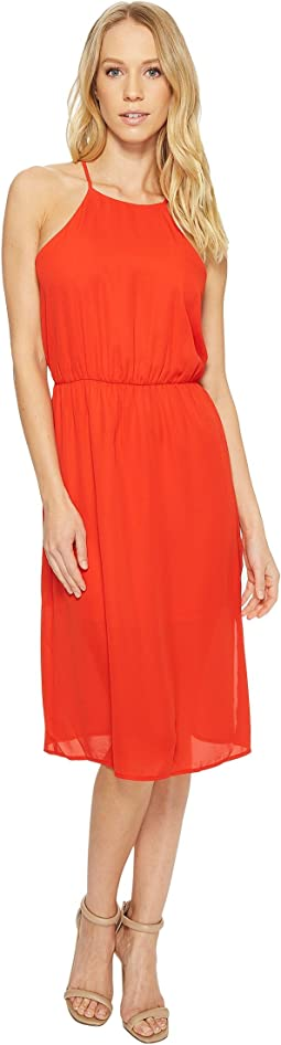 Isabella High Neck Midi Dress