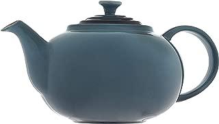Le Creuset PG0328-006M Enameled Stoneware Traditional Teapot, 1.4 quart, Marine