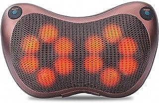 Mocvマッサージ枕頸椎マッサージ器 3D 首マッサージャー 肩マッサージピロー 正転&反転電動 赤外線療法 スピード調節可 首・肩・腰・背中・太もも・ふくらはぎ マッサージ機 肩こり・ストレス解消 血液循環加速 ストレス解消 多機能 家庭用/職場用/車用 両親からの贈り物として最適 マッサージクッション(12球)