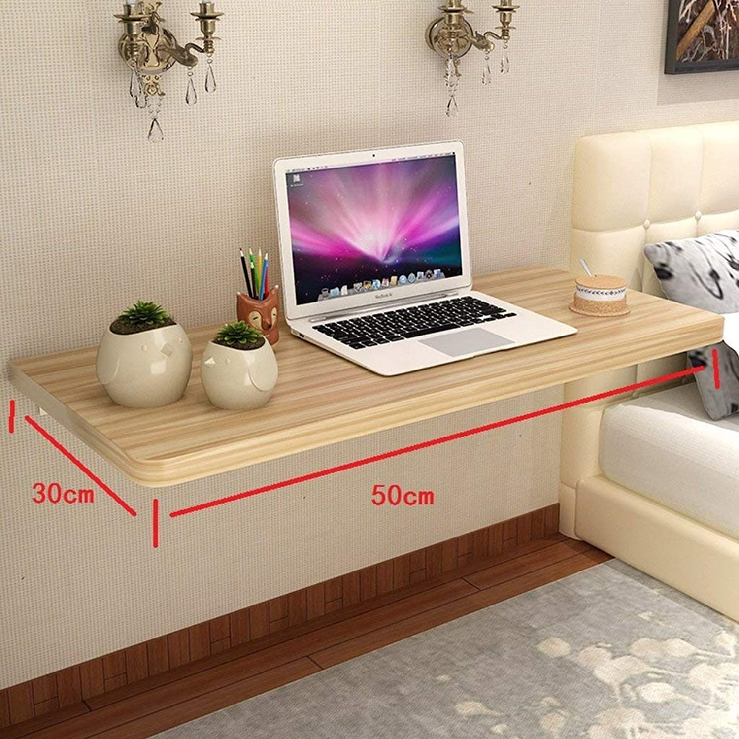 Chuan Han Household Simple Wall-Mounted Drop-Leaf Table Wall Table Foldable Kitchen & Dining Table Wall Table Computer Desk Adapts to Any Space