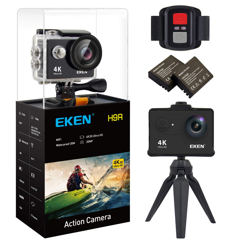 EKEN Waterproof 1080p60 Mountings Batteries