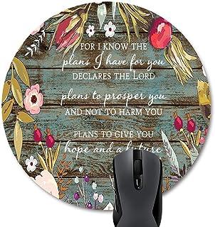 Wknoon Round Mouse Pad Customized Design Abstract Metallic Gold Rose Mandala Art Circular Mouse Pads
