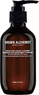 Grown Alchemist Gentle Gel Facial Cleanser - Geranium Leaf, Bergamot & Rose-Bud (200 Milliliters, 6.76 Ounces)