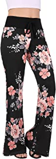 HDE Womens Pajama Pants Wide Leg Sleepwear Casual Loose Lounge Pant PJ Bottoms