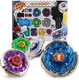 Wuliutoy Burst 4D Set with Launcher Battling Tops Storm Gyro Metal Spinning Fusion Starter Set Classic Toys for Kids