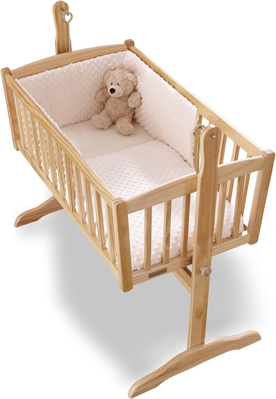 Clair de Lune Dimple Rocking Crib  Cradle Quilt and Bumper Set (Cream)