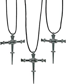 Fun Express - Nail Cross Necklaces - Jewelry - Necklaces - Cross Necklaces - 12 Pieces