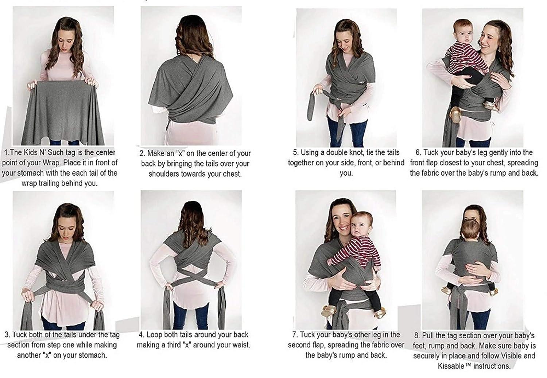kann sowohl am K/örper der Mutter als auch mit Ringen umgewickelt werden teilweise elastisch Uamita Babytragetuch aus Bio-Baumwolle atmungsaktiv 0.45 x 2.5 m
