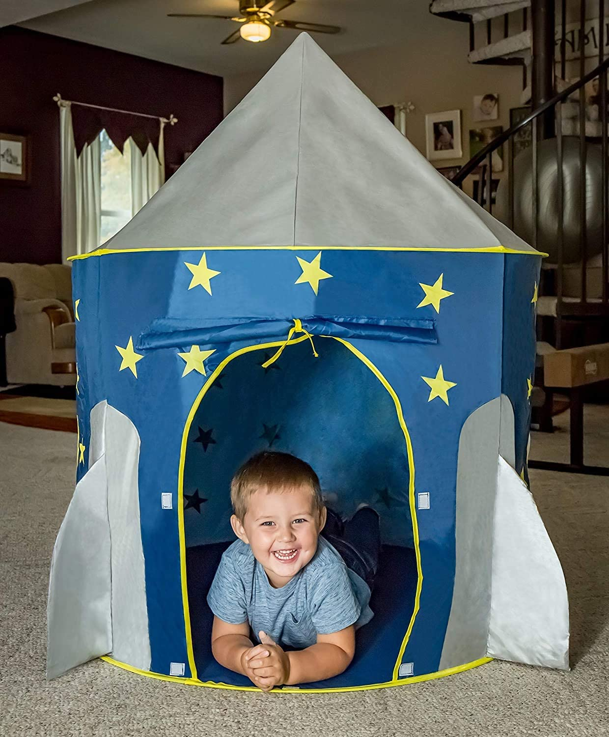 no branded Rocket Ship Tent - Space Play Pretend Max Outlet sale feature 54% OFF S Themed