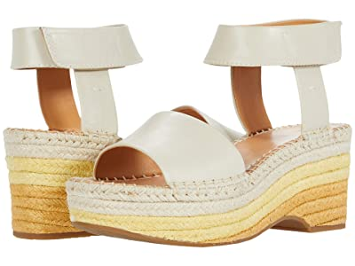 FRYE AND CO. Amber Espadrille Wedge (White Sand Waxed Leather) Women