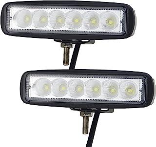 Willpower 6 inch 18W LED Work Light Driving Pods Flood Beam Work Lamp for Off Road SUV ATV UTV Boat 4X4 Jeep JK 4Wd Truck 12V-24V 1800LM