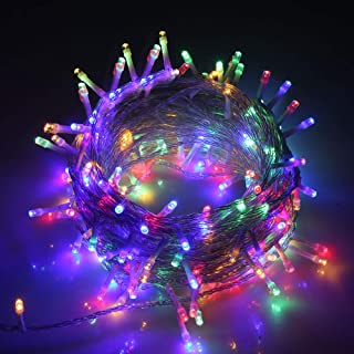 VTECHOLOGY Christmas String Light, LED String Light 33ft 100 LEDs with Controller, Fairy Lights Decoration (Transparent Wire) (Multi-Color)