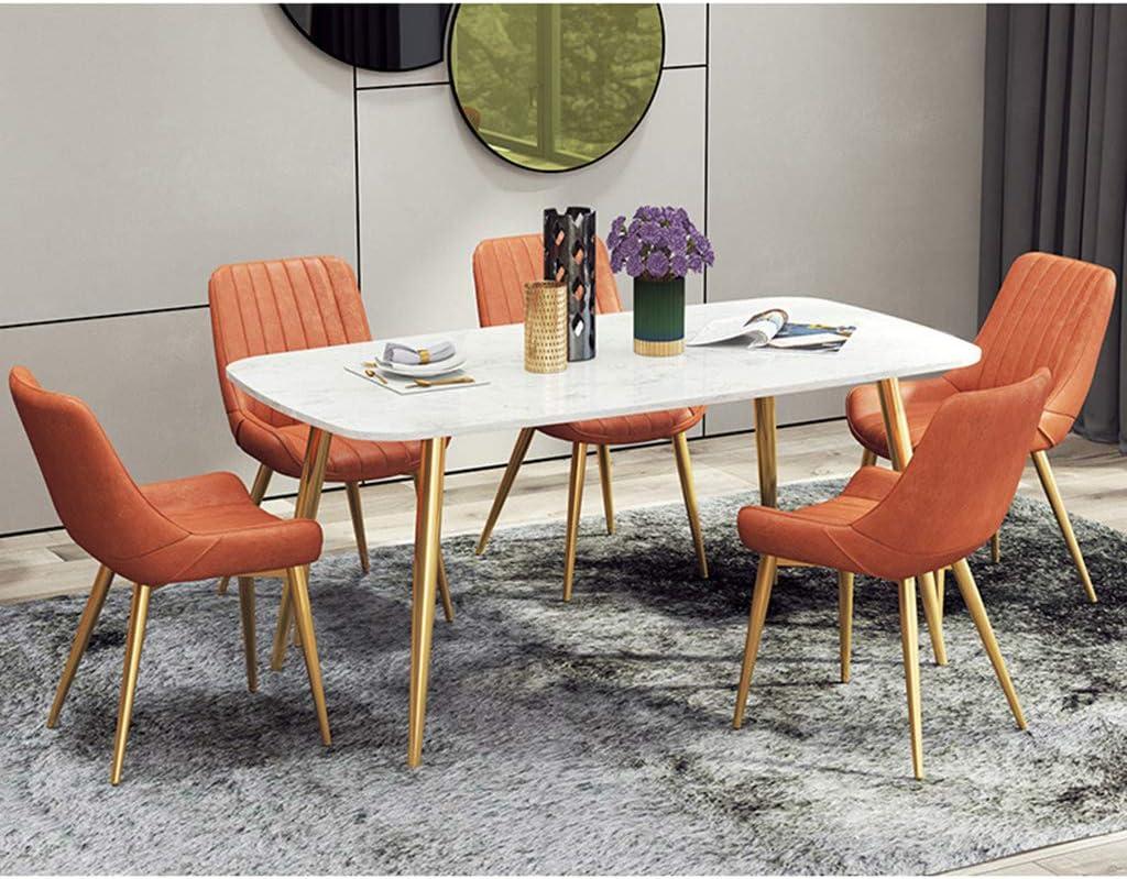 Calyvina Chaises de Salle à Manger pour Cuisine Salon Chaises en Cuir avec Dossier Confortable Chaises de Salle à Manger(Gold),BLUE1 Red2