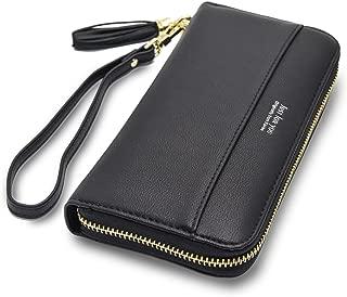 Women Wallets Tassel Bifold Ladies Cluth Wristlet Wrist strap Long Purse