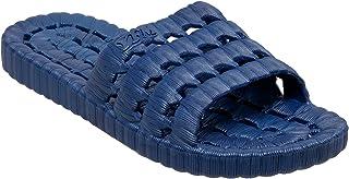TECS PVC Slide Sandals for Men, Beach Flip Flip & Lightweight Water Shoe with Open Toe, for Showers, House Slipper Dorms &