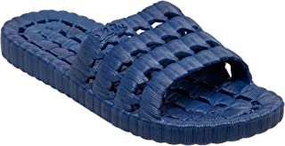 TECS PVC Slide Sandals for Women, Beach Flip Flip & Lightweight Water Shoe with Open Toe, for Showers, House Slipper Dorms & Outdoor Use