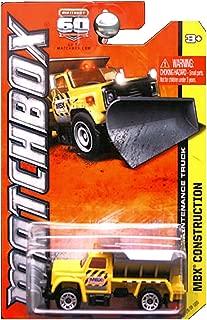Matchbox 2013 MBX Construction Highway Maintenance Truck Dump Yellow