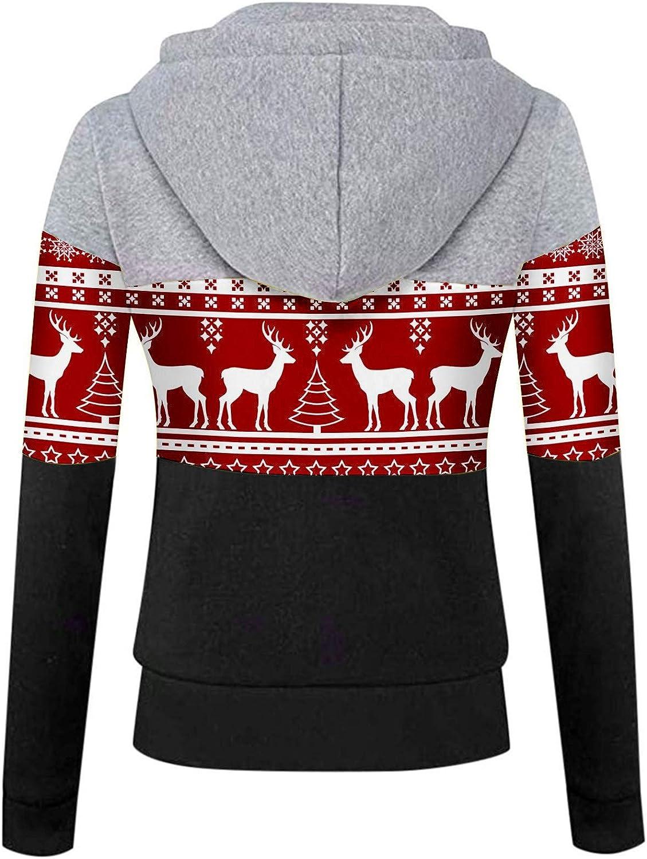 Fannyfuny Hoodie Pullover Damen Herbst Winter Kapuzenpullover Sweatshirt Winterpullover Langarm Jacke mit Kapuze Mantel Tops Outwear 02hot Pink