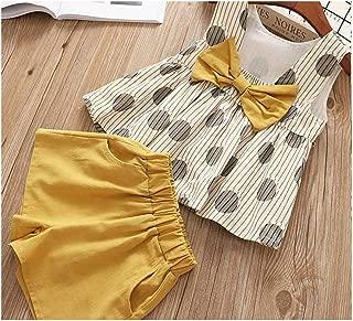 MUSTY Y Ropa para niños niñas Ropa Grande Mariposa + Pantalones Cortos 2 Piezas Chaleco para niños