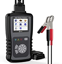 KZYEE KM301 2-in-1 Car Diagnostic Tool, Check Engine Light Code Reader for OBD2 Vehicles, 100-2000 CCA Battery Tester with Cranking and Charging Systems Analysis