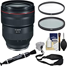 Canon RF 28-70mm f/2 L USM Zoom Lens with 2 UV & CPL Filters + Strap + Kit