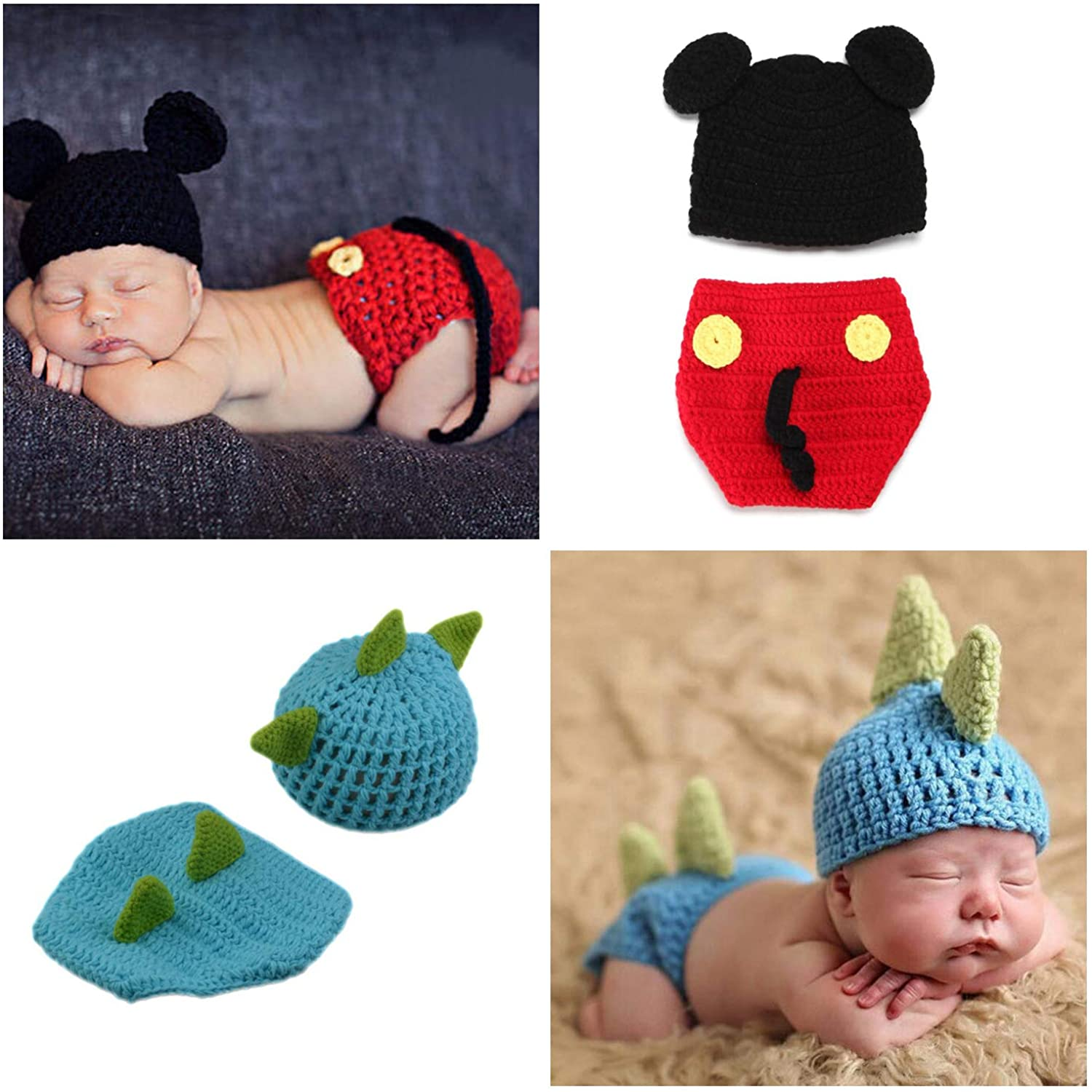 Sale item ZOCONE 2 Sets Cotton Knitted Costume Photography Atlanta Mall Gir Newborn for