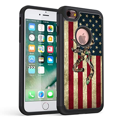 7fa2f7836d iPhone 6S Plus Case,Rossy Camo American Flag Design Shock-Absorption Hard  PC and