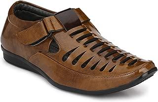 BUCADIA Men Fashion Outdoor Formal Casual Ethnic Loafer Sandal Shoe