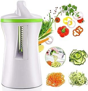 Starthi 4 in 1 Spiralizer Hand Held Vegetable Spiralizer Handheld Upgrade Spiral Slicer Zucchini Noodle & Veggie Pasta & S...