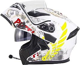 DINDO Modular Bluetooth Motorcycle Helmets, DOT Approved Flip Up Helmets Dual Visor Street Bike Racing Helmet for Men Wome...
