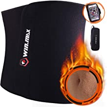 WIN.MAX Waist Trimmer Belt,Waist Trainer for Men and Women,Slim Body Sweat,Stomach Fat Burner,Adjustable Weight Loss Wrap,Premium Exercise Ab Bel,Low Back and Lumbar Support with Sauna Effect