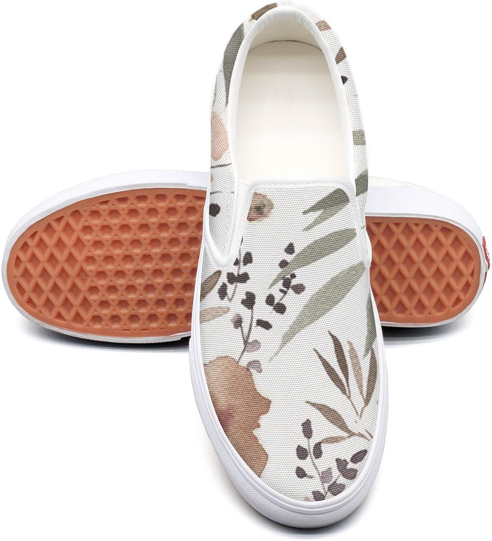 Dutte Lisa Women's bluesh Pink Taupe Watercolour Floral Casual shoes Laces Low Canvas Slip On Sneakers