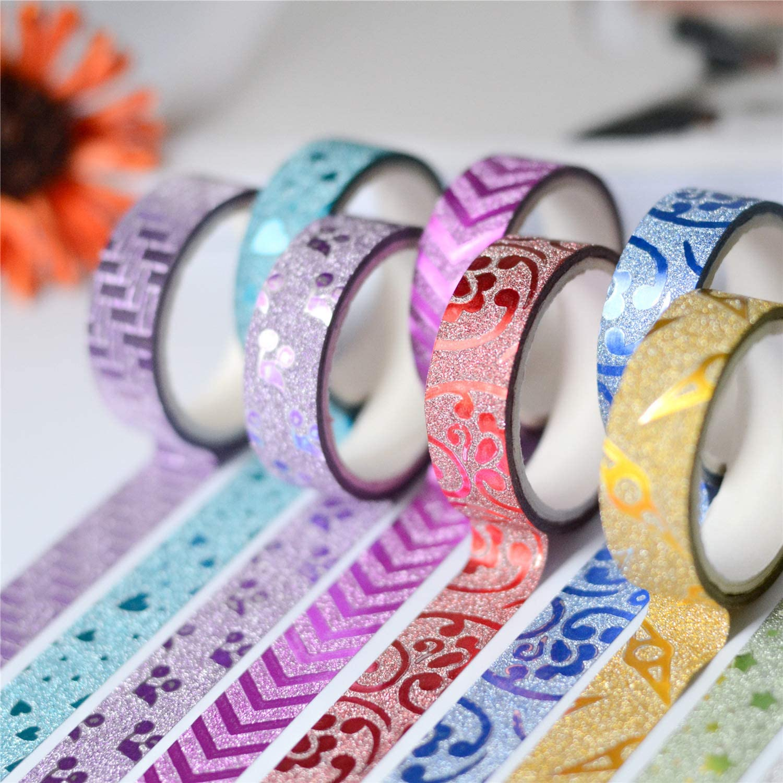 POFDG 5 Rollen dekorative Aufkleber diy Gold Pulver Farbe Flash Handarbeit Dekoration B07H8VSL5F     | Verrückter Preis, Birmingham