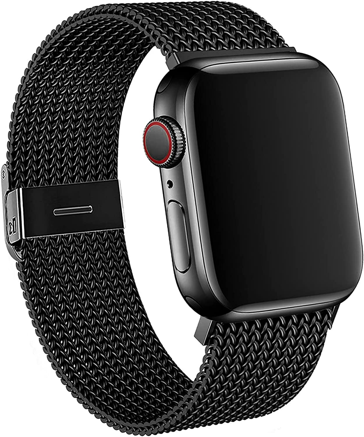 ELKTION Pack 4 Strap Compatible with Apple Watch Strap 38mm 40mm, Soft Silicone Sport Replacement Watchband for iWatch Series 5/4/3/2/1
