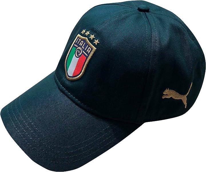 Cappellino nazionale di calcio cappello con visiera ufficiale figc italia maestri del calcio B08H7ZSJFZ