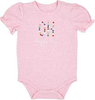 Stephan Baby Snapshirt-Style Diaper Cover, Pink + Oh Happy Day, Fits 6-12 Months