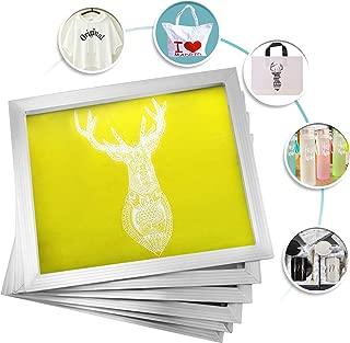 VEVOR Silk Screen Frame 6 Pieces Aluminum Silk Screen Frame 20x24 Inch Silk Screen Printing Frame with Yellow 230 Count Mesh